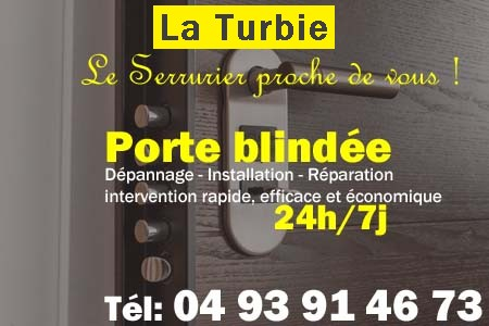 Porte blindée La Turbie - Porte blindee La Turbie - Blindage de porte La Turbie - Bloc porte La Turbie